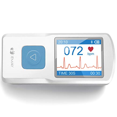 EMAY Portable ECG Monitor (for iPhone & Android, Mac & Windows) |...