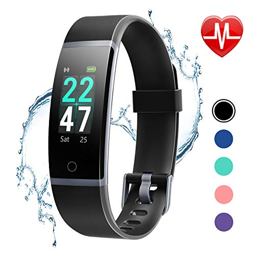 LETSCOM Fitness Tracker with Heart Rate Monitor, Color Screen...