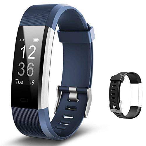 Lintelek Fitness Tracker with Heart Rate Monitor, Activity...