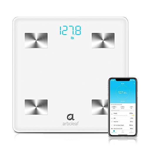 Arboleaf Digital Scale - Bluetooth Smart Scale Bathroom Weight...