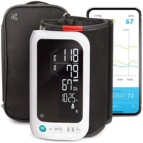 GreaterGoods All-in-One Smart Blood Pressure Monitor Pack, Upper...