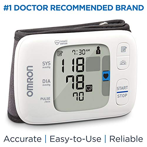 Omron Gold Blood Pressure Monitor, Portable Wireless Wrist...