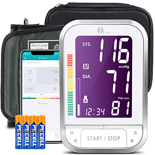 1byone Bluetooth Blood Pressure Monitor with Cuff for Home Use,...